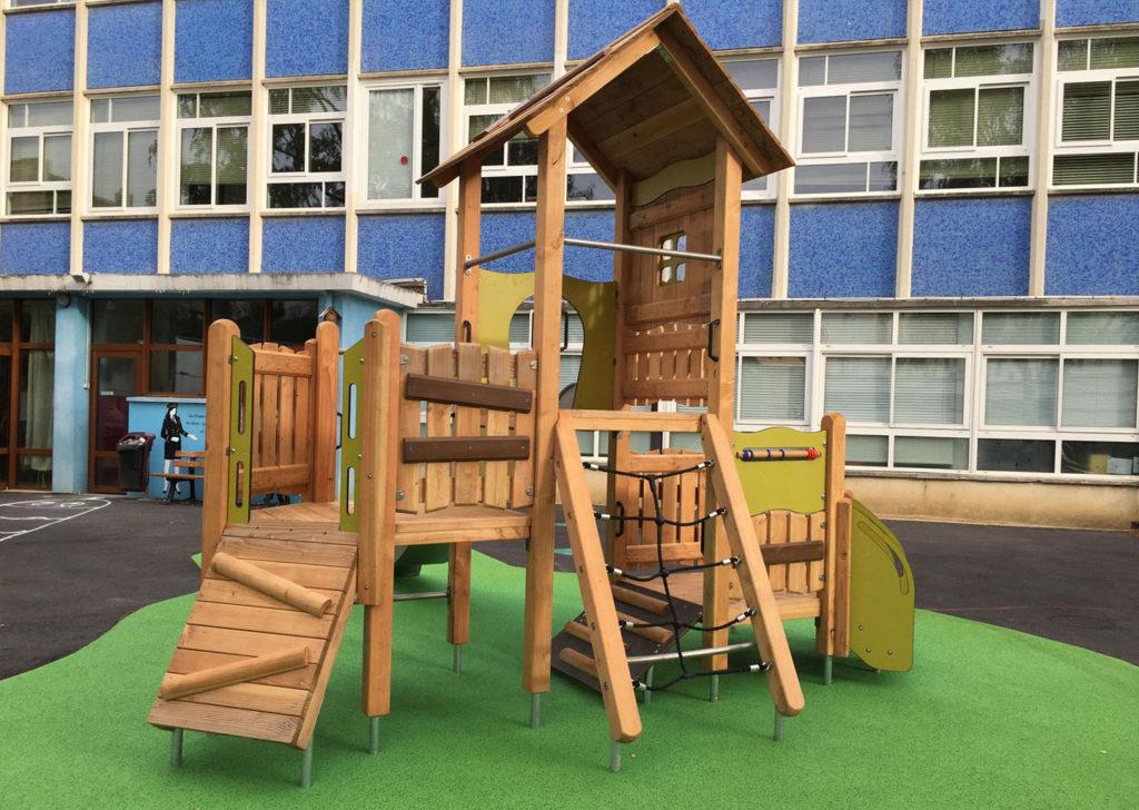 aménagement d'une aire de jeux en bois Marne 51 (1)