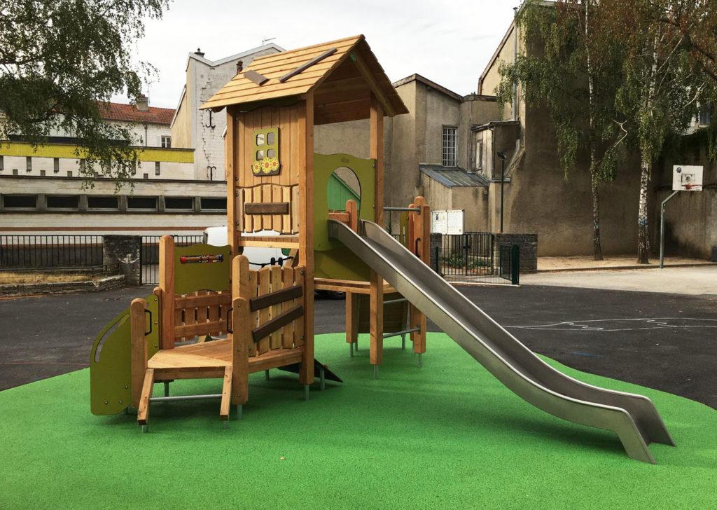 aménagement d'une aire de jeux en bois Marne 51 (2)