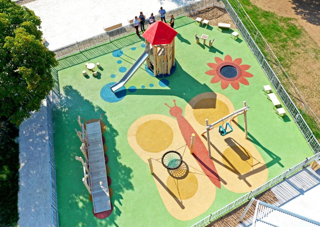 aménagement d'une aire de jeux en bois de robinier meurthe et moselle 1