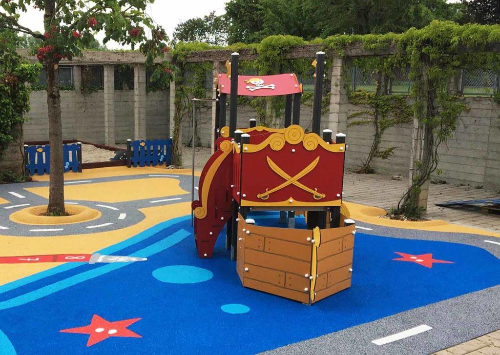 Aménagement d'une aire de jeux école avec circuit 1